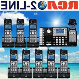 RCA 25252 DECT 6.0 2-LINE 9 CORDLESS PHONES WITH 2-LINE ANSW