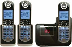3 Motorola Cordless Handsets Phones Digital Home Caller ID A