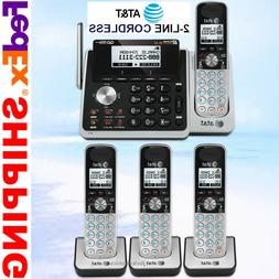 AT&T TL88102 2-LINE DECT 6.0 PHONE SYSTEM - 4 CORDLESS - BRA
