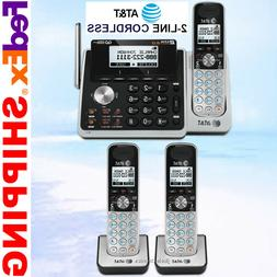 AT&T TL88102 2-LINE DECT 6.0 PHONE SYSTEM - 3 CORDLESS - BRA