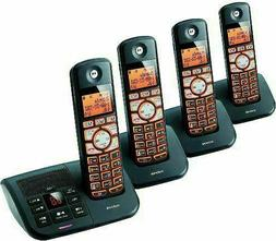 Cordless Phone With 4 Handsets Motorola DECT 6.0 Answering M