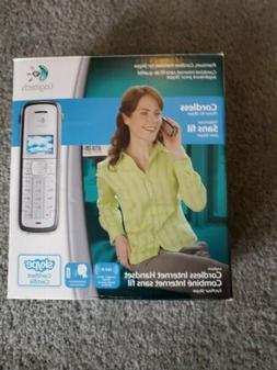 Logitech Cordless Skype Phone,Handset,Charging Cradle, & AC