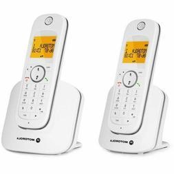 Motorola D1001W-2  DECT Dual Handsets Single Line Cordless S
