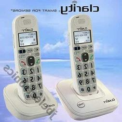 CLARITY D712 DECT 6.0 - 2 AMPLIFIED LOUD CORDLESS PHONES W/A