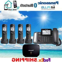 PANASONIC KX-TG9582B 2-LINE 1 CORDED 4 CORDLESS PHONES 1 REP