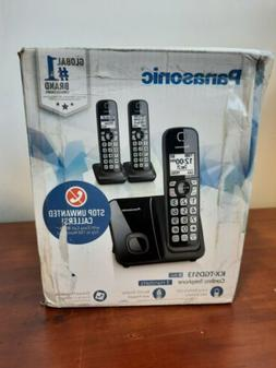 Panasonic Kx-TGD513B Expandable Cordless Phone with Call Blo