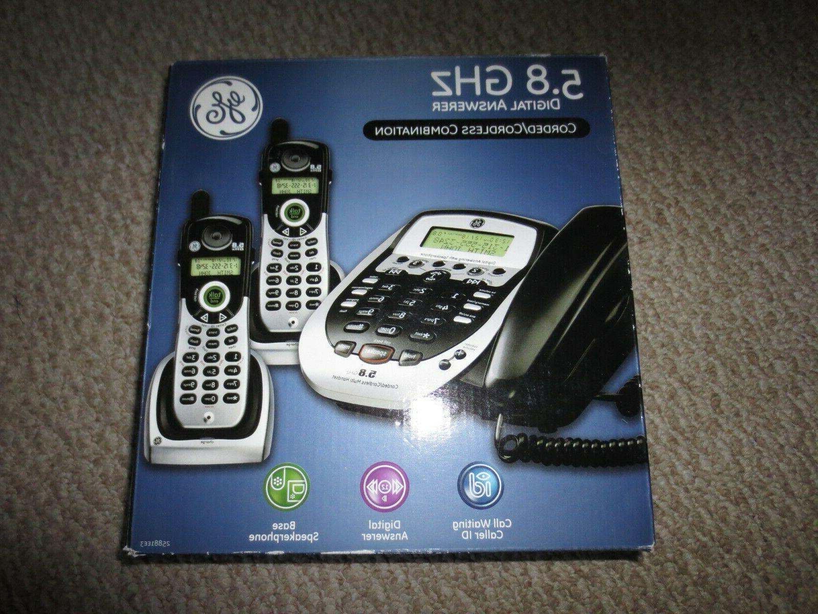 25881ee3 corded cordless answering system 3 phones