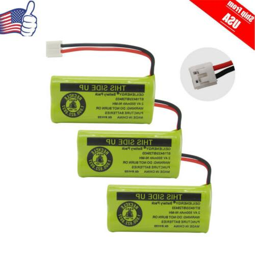 3x cordless phone battery for uniden bt18433