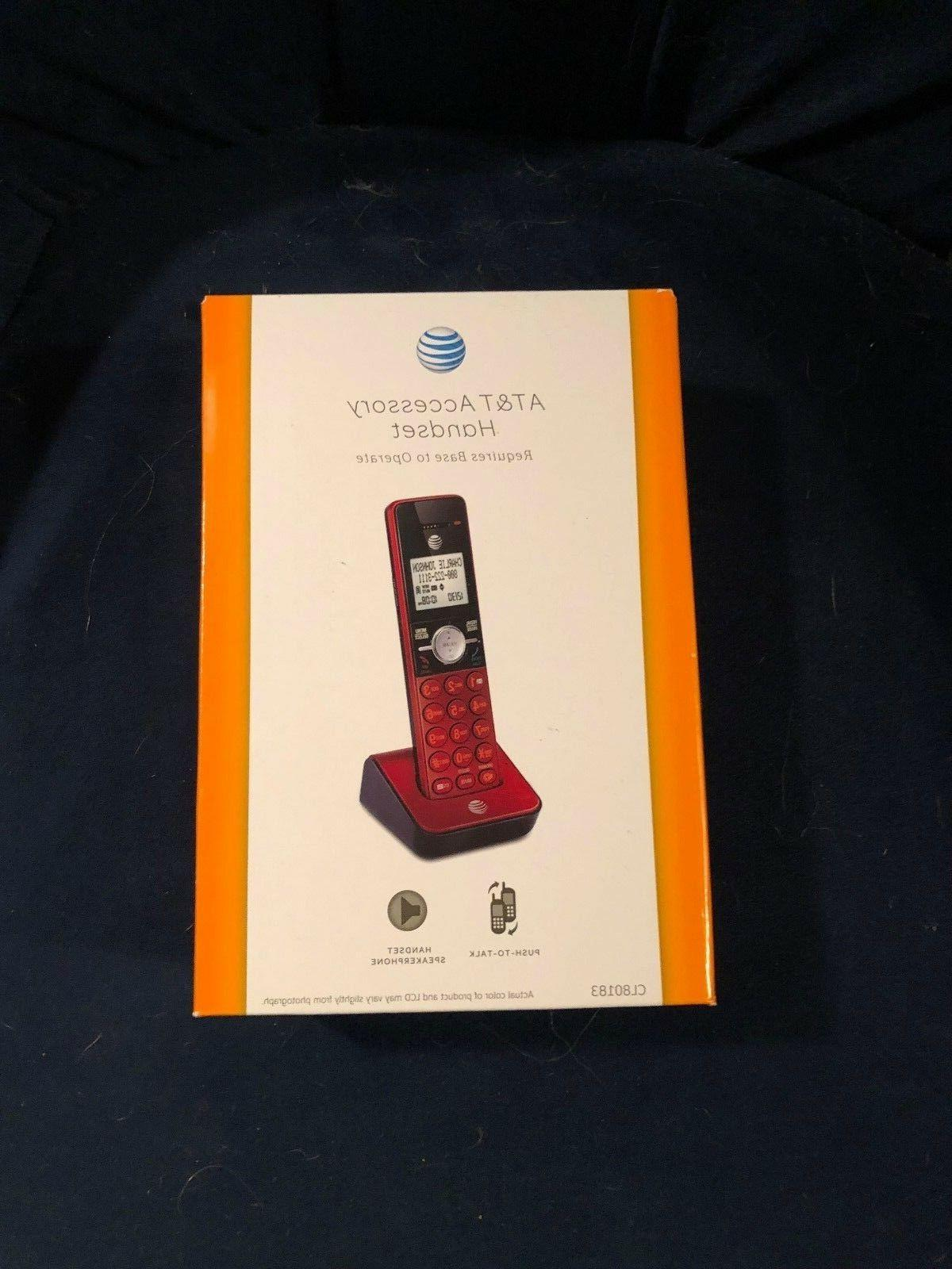 at and t cordless phone red