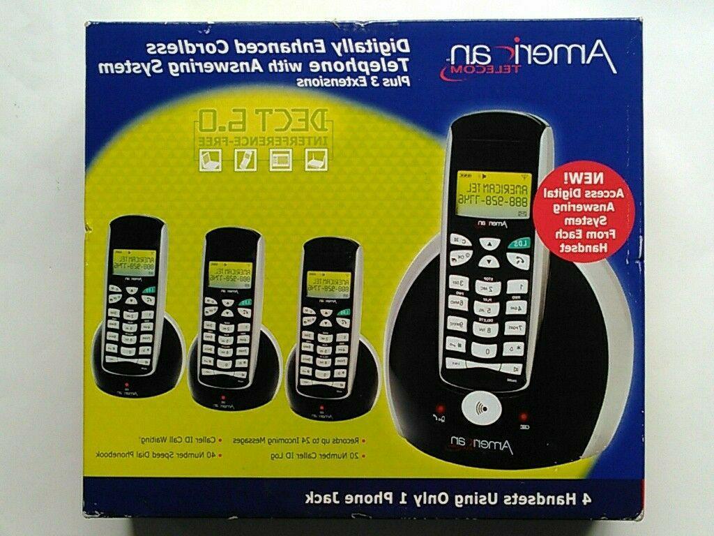 digitally enhanced cordless telephone set with answering