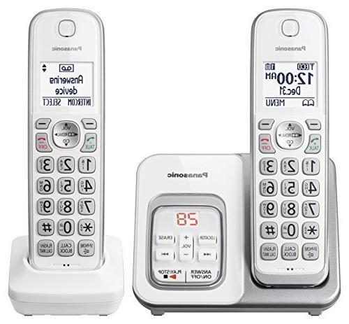 Panasonic KX-TGD532W Phone with Block and Answering Machine 2 Handsets