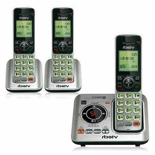 new 3 handset cordless phone with answering
