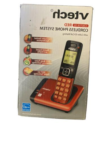red cordless phone system