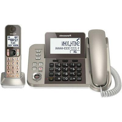 telecom kx tgf350n corded cordless phone answering