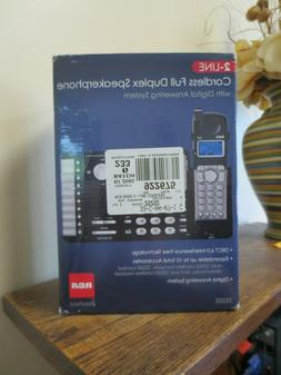 New! RCA  2 Line Cordless Full Duplex Speakerphone w Digital