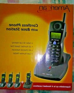 New American Telecom Cordless Phone With Base Station 2.4GHz