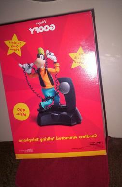 RARE Disney Goofy Cordless Animated Talking Telephone home