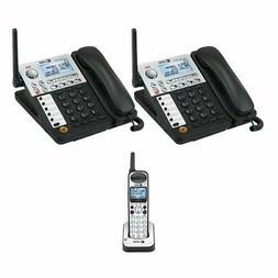 AT&T SynJ SB67148 Two 4 Line Deskset Cordless Phone Plus Exp